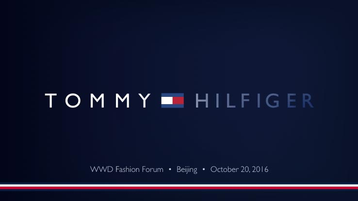 ppt WWD fashion forum Tommy Hilfiger keynote presentatie China opmaak vormgeving film animatie transitie motion Beijing WWD